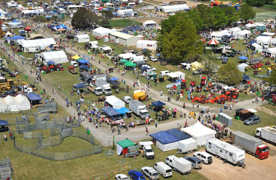 An aerial view over the Murrumbateman Field Days event. Image: Murrumbateman Field Days Facebook page