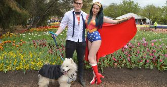 Superhero dogs stage a takeover of Floriade