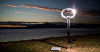 Public art makes a huge splash lakeside