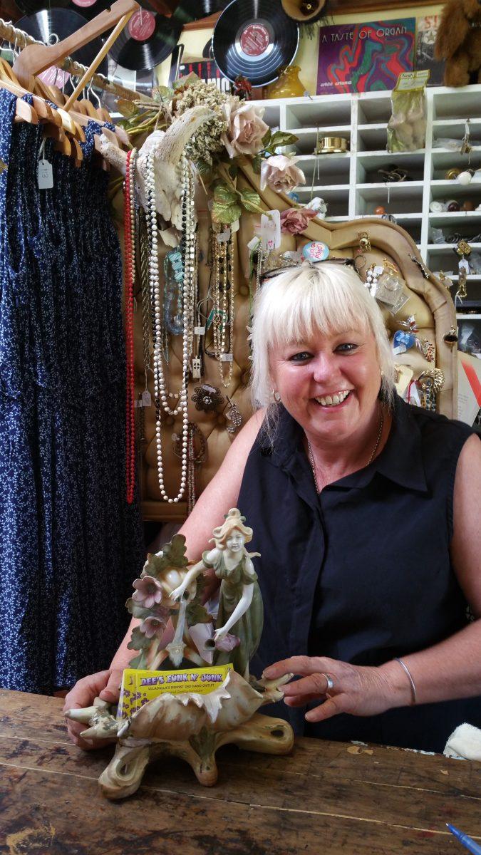 Denise Joy (Dee) from Dee's Funk n Junk in Ulladulla. Photo: Jesse Rowan.