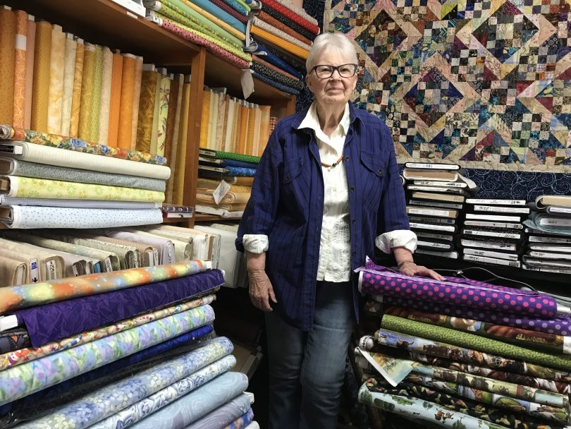 June Weatherston is calling it a day for The Braidwood Quilt Shop. Photo Alex Rea.