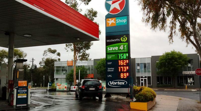 Petrol price board
