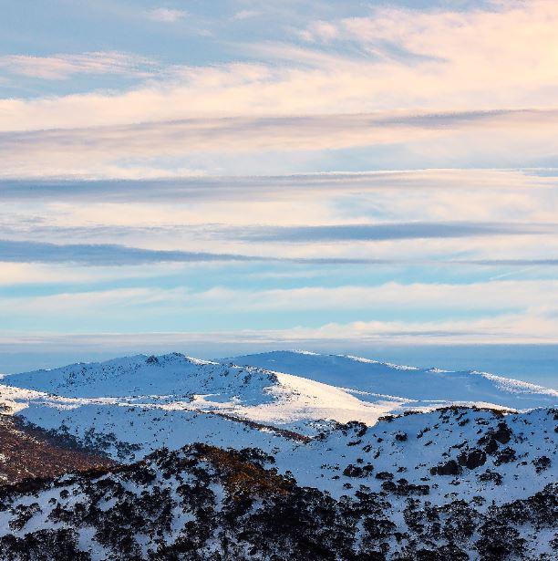 Etheridge Ridge and Mt Kosciuszko. Photo: Craig Lewis, Alpine Australia.