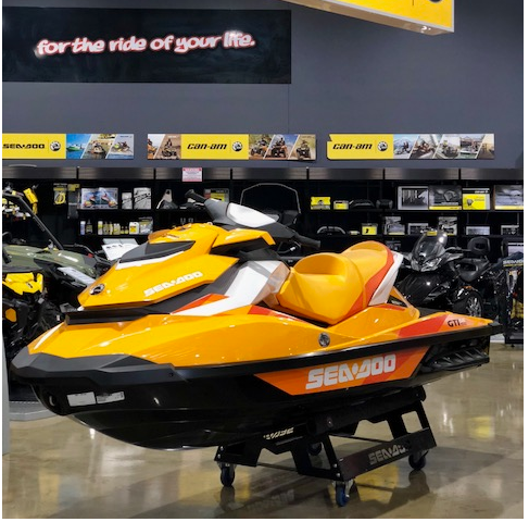 The 2017 Sea-Doo GTI155 at the Canberra Motorcycle Centre.