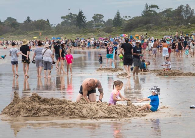 Broulee's New Year's Eve sandcastle competition is growing in numbers. Photo: Supplied.