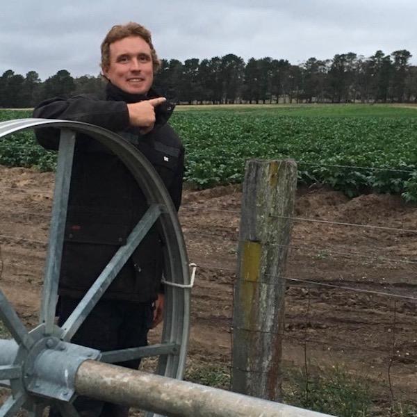 Brayton grower Luke Bartlett.