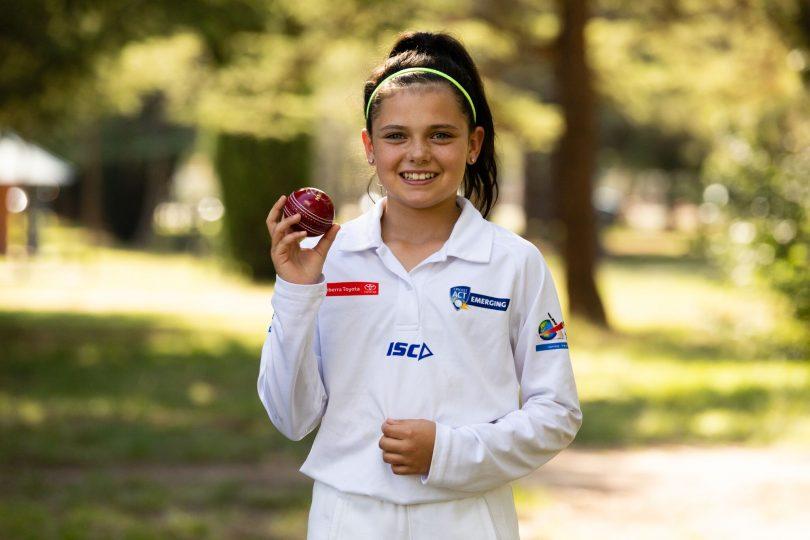 Rachel Carroll, a cricketer of the future. Photo: Daniella Jukic.
