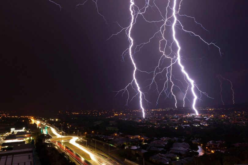 Did you witness the lightning display last night? Photo: Living Media.