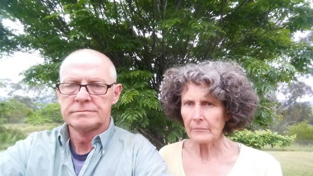Uncertain future: Taxi plate owner Melville Leslie and his wife Robyn Boness. Photo: Supplied.