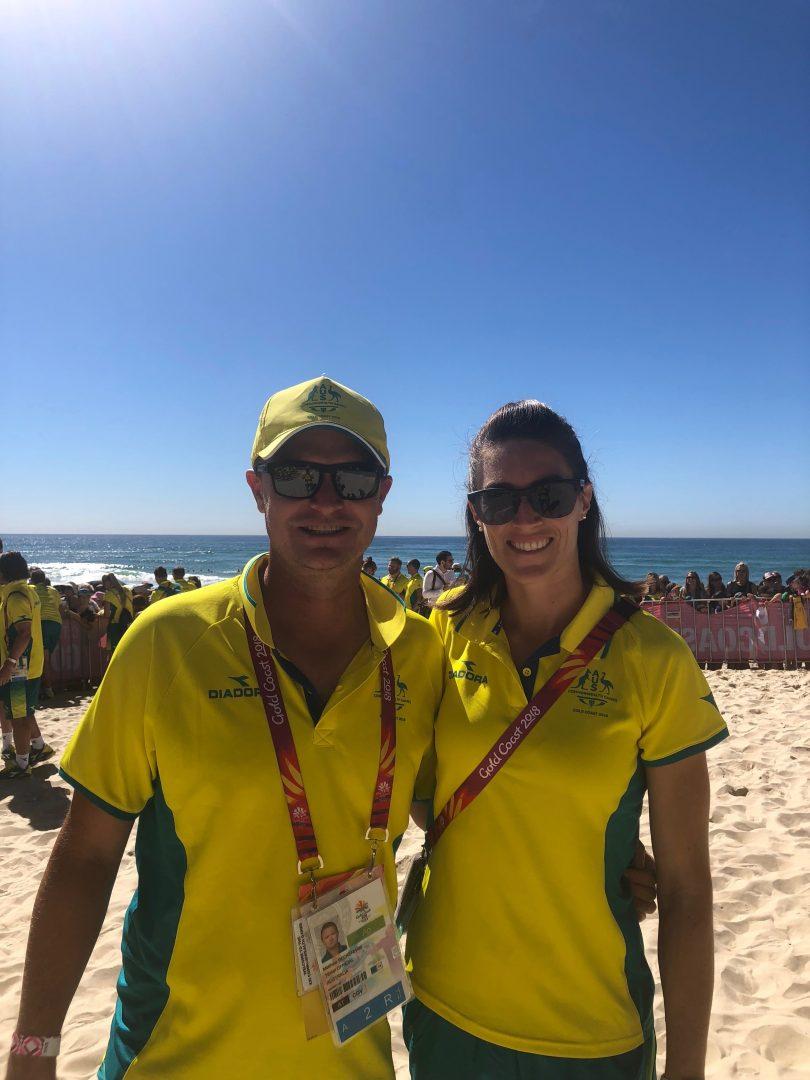 Lauren Wells and coach, Matt Beckenham. Photo: Supplied.