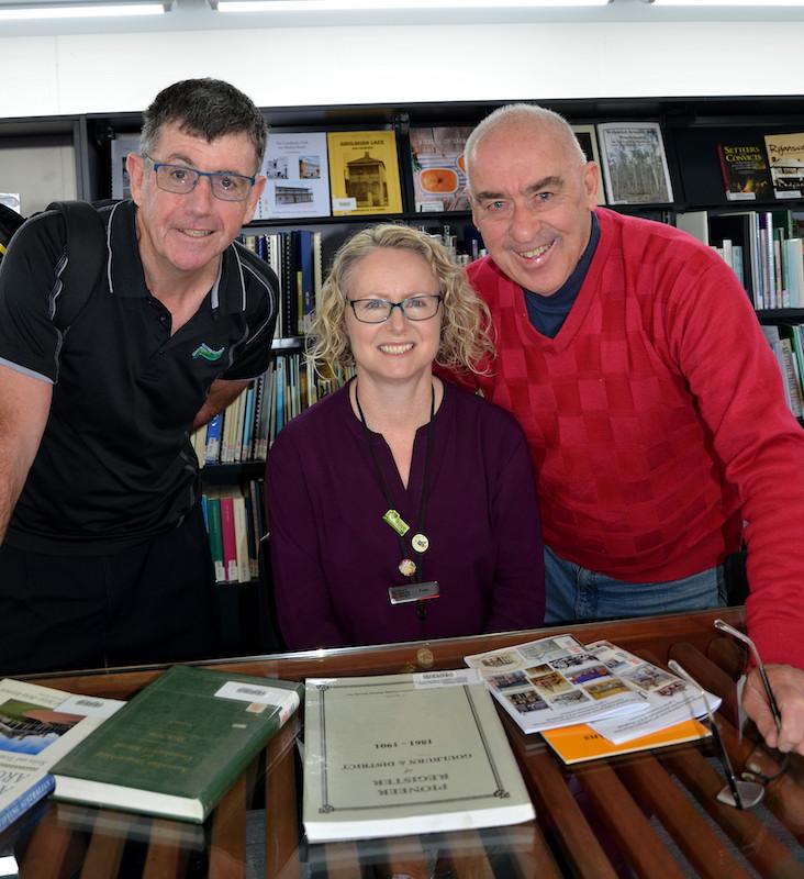 David Carmichael, Fran O'Flynn and Leon Oberg. Photo: Leon Oberg.
