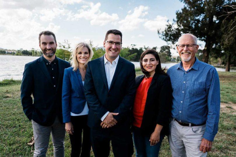 Liberal candidates with Senator Zed Seselja (centre)