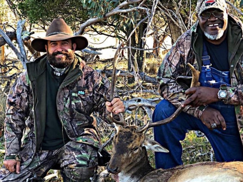 Rob Gallina (left) believes shooting is a more humane way of culling deer than poisoning them.