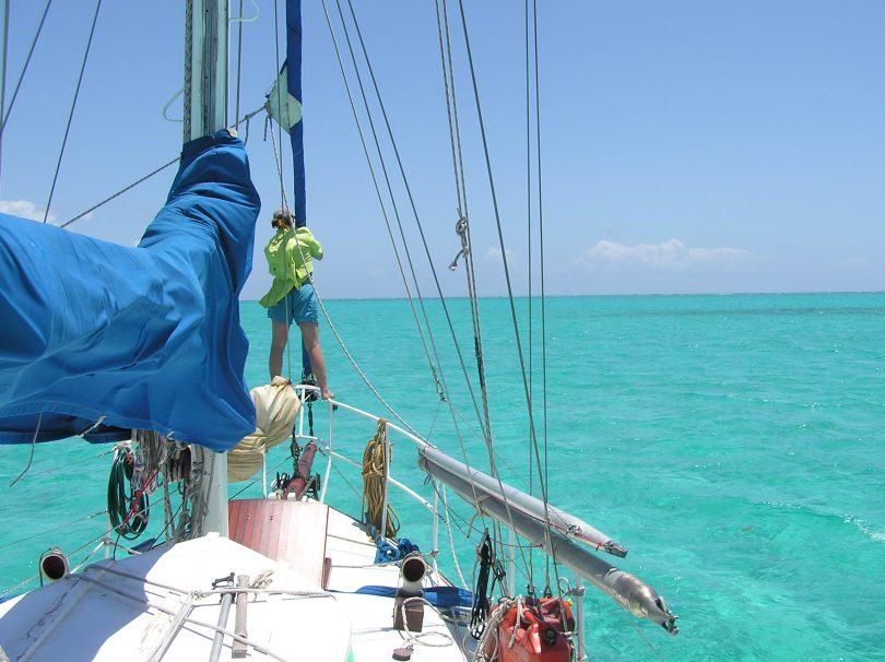 Jackie looking for reefs