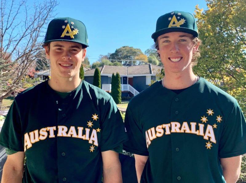 Cooper Morgan and Stuart Tharle, next generation baseball players. Photo: Supplied.