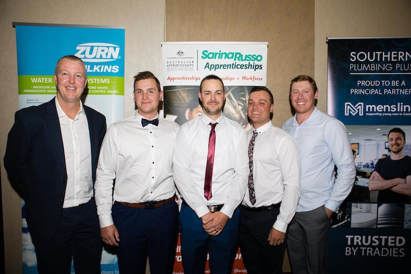 Ray Burke, Brendan Brown, Tom Banks, Nick Hervert and John Payten.