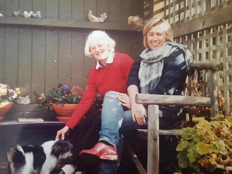 Sarah Hyles (right) and her mother Margaret Pavitt.