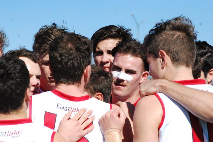 Eastlake team huddle