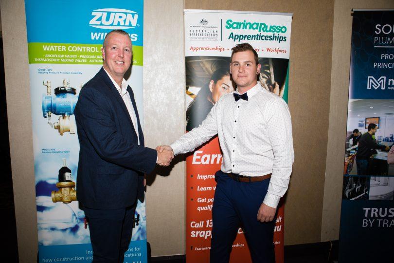Colin Mills Award recipient apprentice, Brendan Brown.