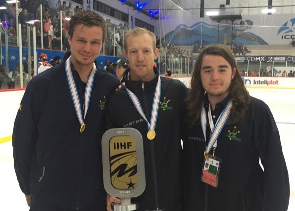 Ice hockey's Matti Luoma, Mark Rummukainen and James Byers. Photo: Supplied.