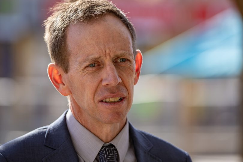 ACT Greens leader Shane Rattenbury