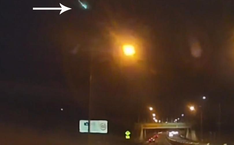 Bright meteor falling through Canberra skies captured on dashcam