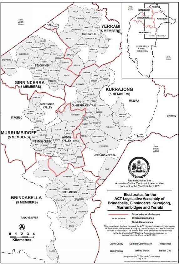 Deakin, Yarralumla off to Murrumbidgee as electoral map
