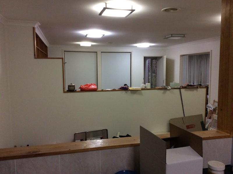 The dreary interior before Jonny and Fiona had transformed 26 Larakia Street.