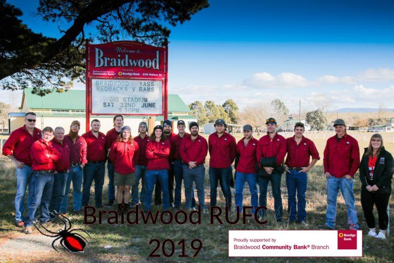 The Braidwood Redbacks team. Photo: Supplied