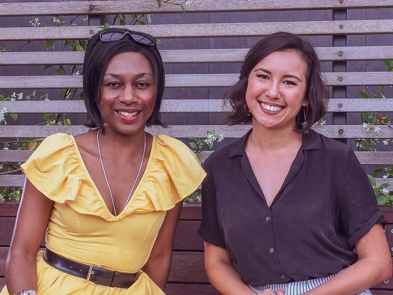 Nina Gbor and Sophia Hamblin Wang. Photo: George Tsotsos.
