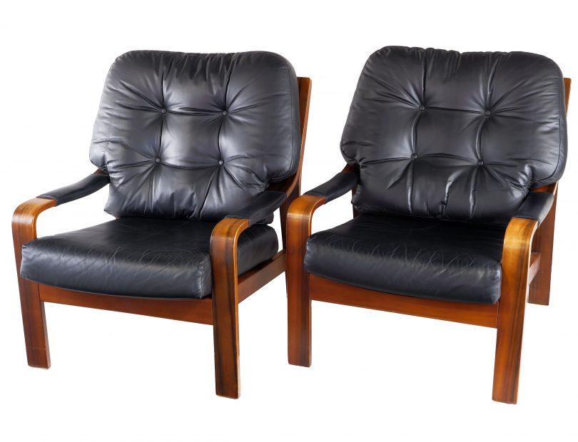 TH Brown Tasmanian Blackwood Lounge Chairs