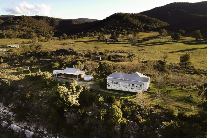 Beautiful home perched on its limestone escarpment surrounded by caves and fossils. Photo: supplied