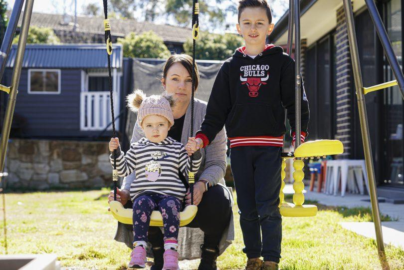 Amanda Bektas with her two children.