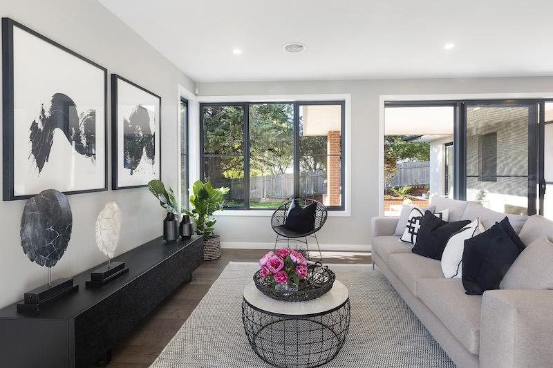 A single-storey home with elegant design.
