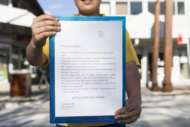 Oran's letter to Scott Morrison