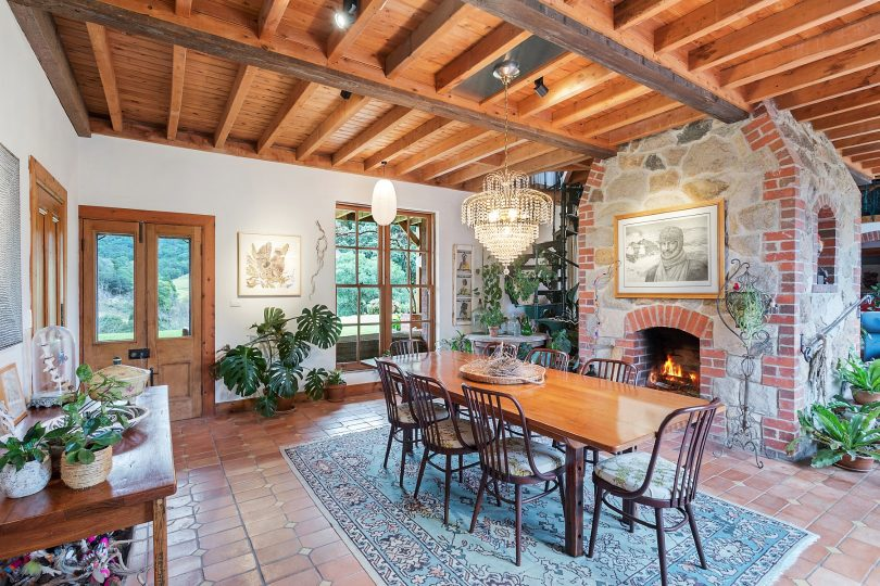 Living spaces are warmed with their own fireplaces. Photo: Supplied
