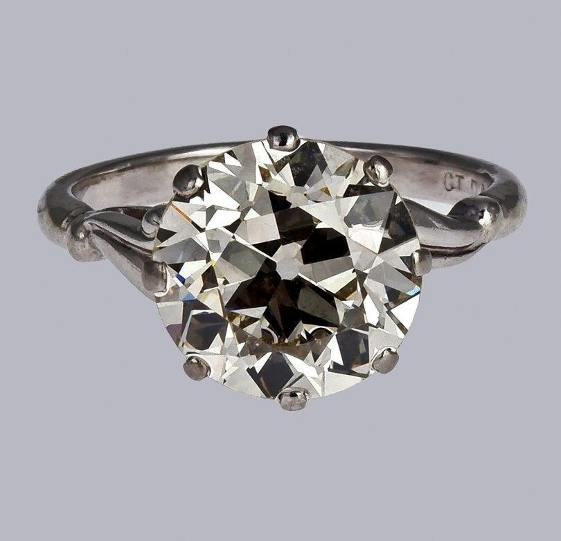 18ct Palladium White Gold Diamond Ring