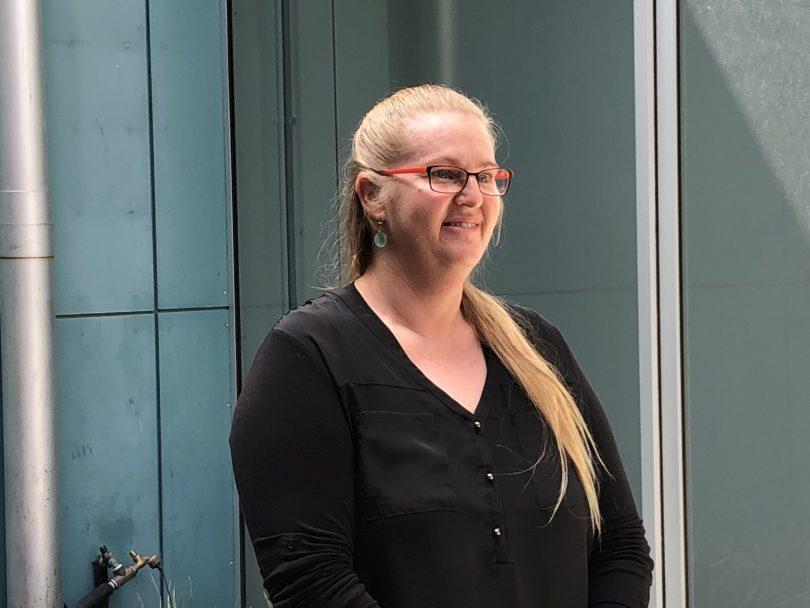 Deaf Canberran Amanda Sullivan.