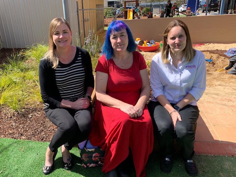 Tania Simpson, Suzanne Tunks and Rebecca Sleeman