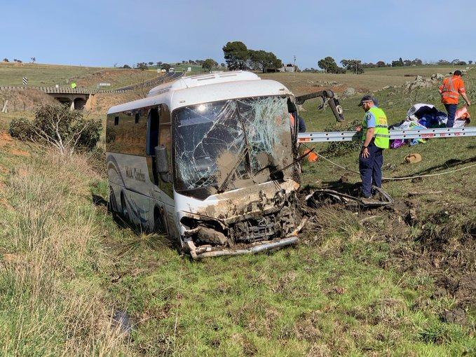 Harden bus crash