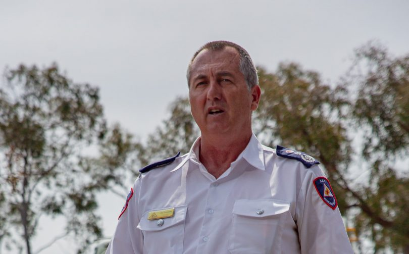 ACT fire chief Joe Murphy