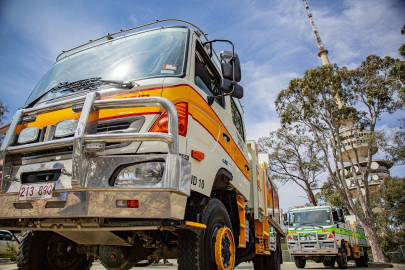 Rural Fire Service trucks.