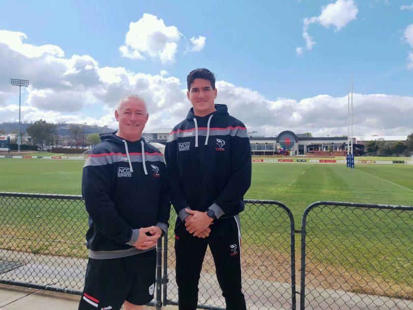 Canberra Vikings coach and captain at Viking Park.