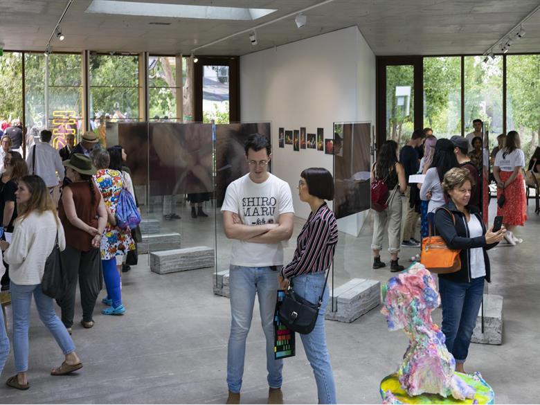 Crowd at Art, Not Apart