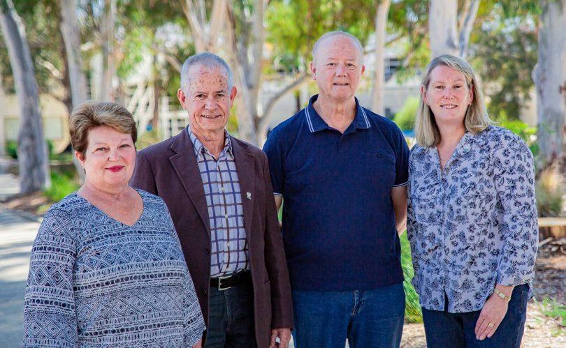 Elayne Harrison, Bruce McDowell, Graham Harrison, and Leanne Campbell