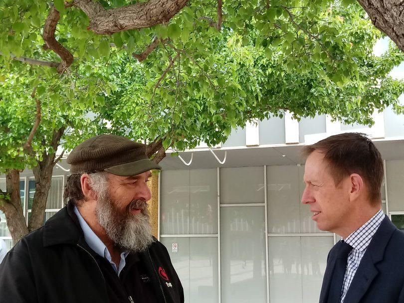 Associate Professor Cris Brack and Shane Rattenbury