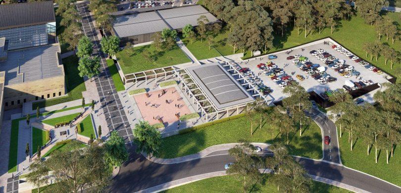 AWM proposed temporary carpark