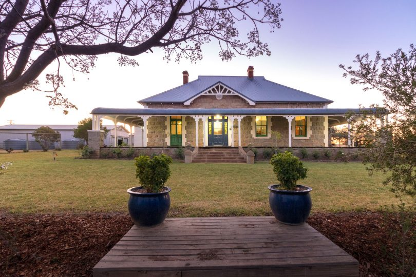 A beautiful bluestone home on acres, 'Bonnie Doone'. Photo: Supplied
