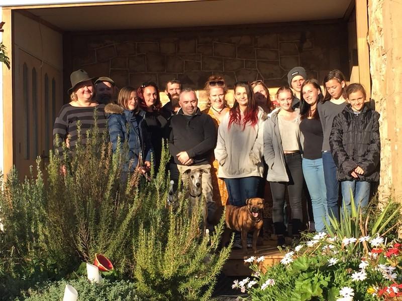 Lyn's family visit in Boorowa