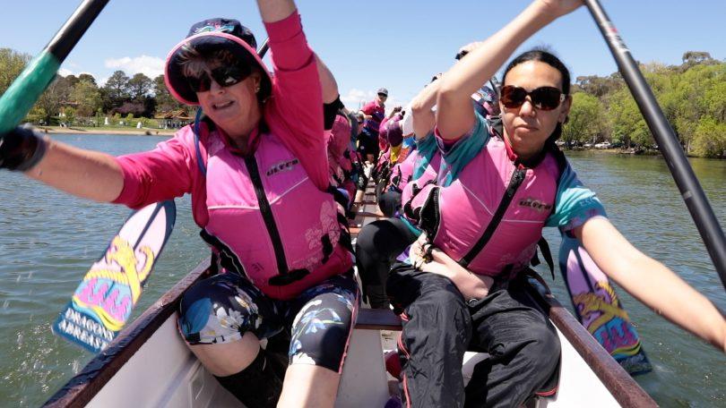 The Dragons Abreast Canberra dragon boat club